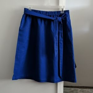 J. Crew linen midi skirt in Royal blue Size M